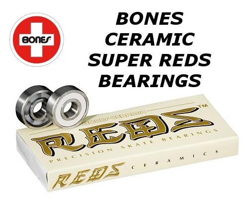 BONES CERAMIC SUPER REDS BEARINGS ボーンズセラミックスーパーレッズベアリング 8個セット スケートボード