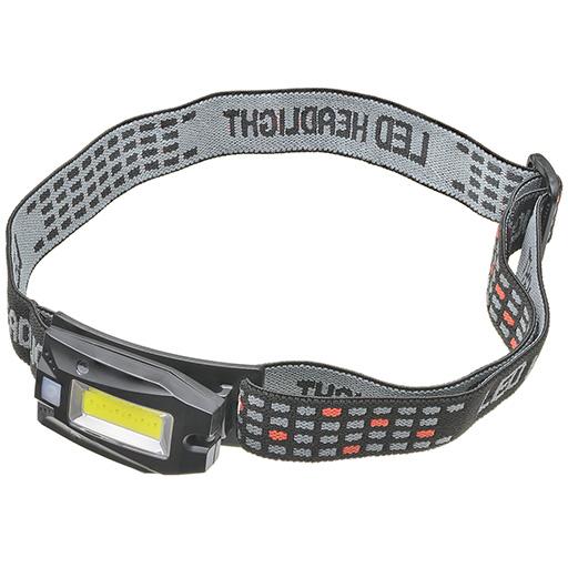 訳あり商品 手をかざすだけでスイッチ操作が出来るモーションセンサー付き 充電式LEDヘッドライトCOB モーションセンサー付き 360°アングルタイプ ストレート 現品 38-936 STRAIGHT
