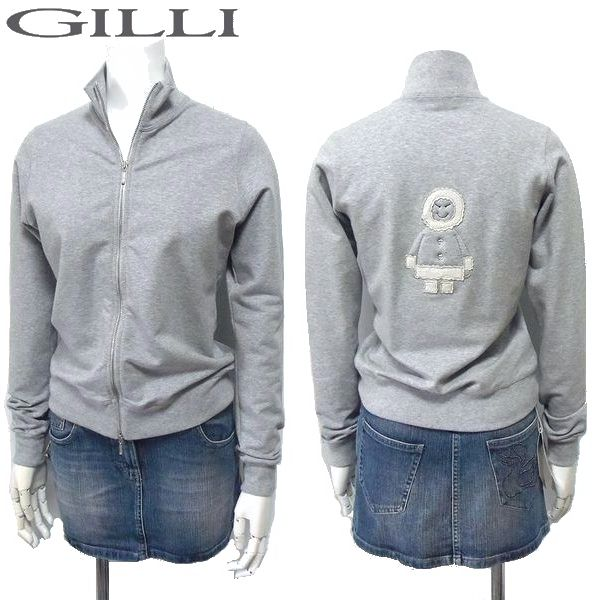 GILLI ジリ ジップジャケット(ZIPスエット) エスキモー Sサイズ 【新品】【YDKG-tk】