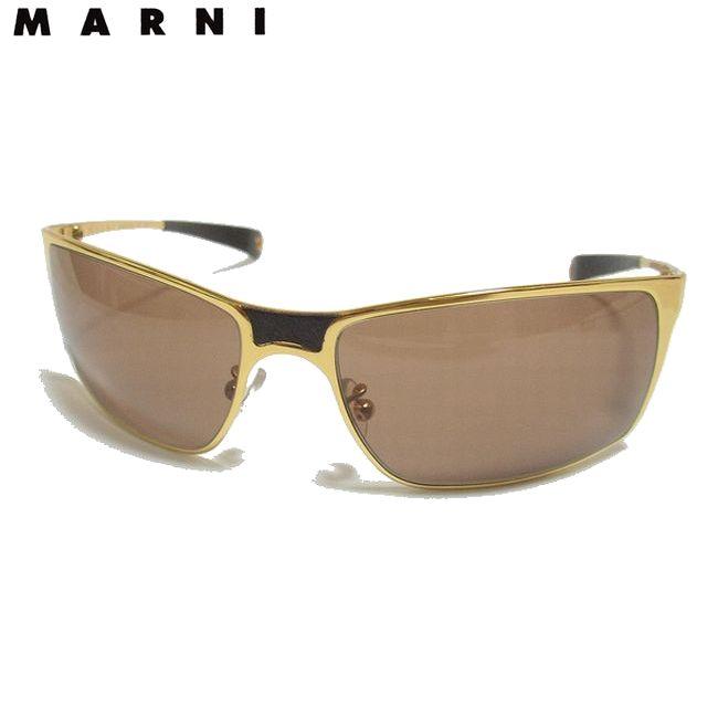 MARNI マルニ メタルフレーム サングラス GOLD×ブラウン 【新品】【コンビニ受取対応商品】