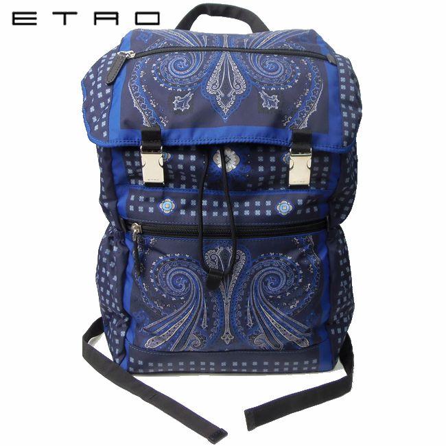 ETRO エトロ ペイズリー ナイロン バックパック P18 1H758 8019 【新品】ブランド メンズ リュック