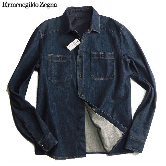 Ermenegildo Zegna エルメネジルド ゼニア デニムシャツジャケット 48サイズ 【新品】【smtb-TK】【YDKG-tk】【コンビニ受取対応商品】