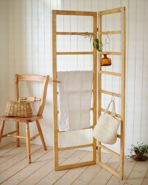【 ハンギングパーテーション L 】カントリー雑貨・カントリー家具目隠し・間仕切り・木製