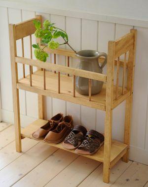 【 フェンススタンド 】カントリー雑貨・カントリー家具収納・木製・ドールベット