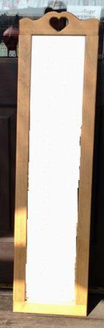 【ハートのミラー 姿見】カントリー木工・カントリー雑貨カントリー家具・ナチュラル・アメリカンフレンチ・手作り・かわいい・可愛い・プレゼント・鏡引き出物