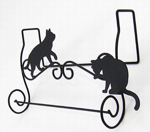 【 タオルハンガー ネコ】 タオル掛け・キャット・アイアン猫・壁掛け・ねこ・可愛い・プレゼント