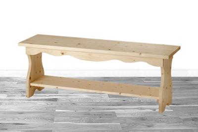 【カントリーベンチ(無塗装)】無塗装・組み立てキット送料無料・チェア・椅子・いすベンチ