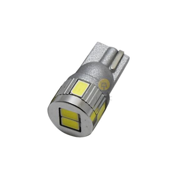 ハイブリッド車対応 ポスト投函 送料無料 1球 軽自動車など ナンバー灯に最適 LED 『1年保証』 無極性 全品送料無料 ホワイト T10 1個 3w 5630SMD 短い