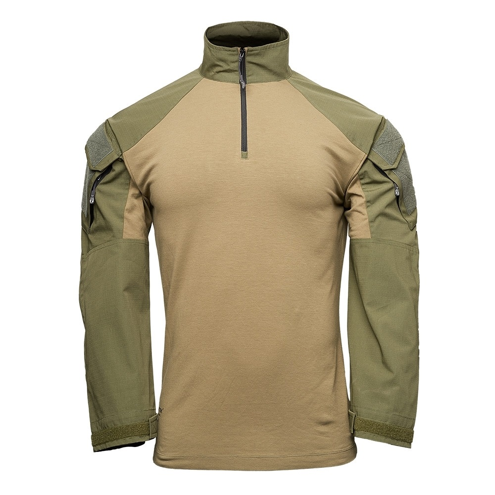 【10%OFFクーポン対象】Kryptek クリプテック 正規品 TACTICAL LS ZIP コンバットシャツ 19TACZLSRG5 レンジャーグリーン RANGER GREEN Lサイズ