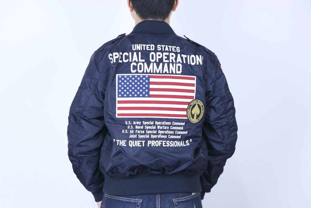 【10%OFFクーポン対象】AVIREX アヴィレックス L-2 USSOCOM フライトジャケット ROYAL ロイヤル 6192132-86-L