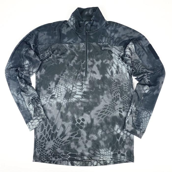 【 4/1まで ポイント10倍】Kryptek クリプテック 正規品 VALHALLA 2 LS ZIP 長袖 Tシャツ 18VALLSZT3 タイフォーン TYPHON Sサイズ サバイバルゲーム 服装 Tシャツ