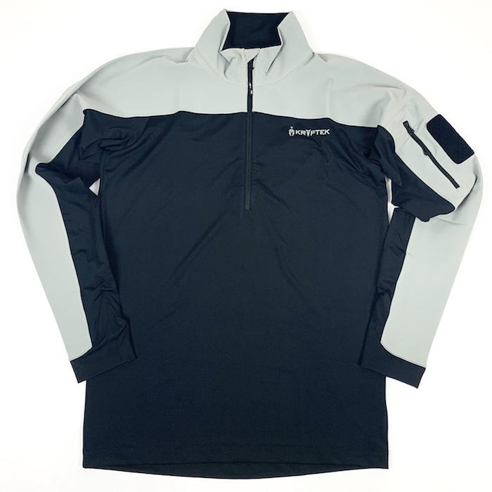 【10%OFFクーポン対象】Kryptek クリプテック 正規品 VALHALLA 2 LS ZIP 長袖 Tシャツ 18VALLSZTBK3 BLACK/WOLF GREY Sサイズ