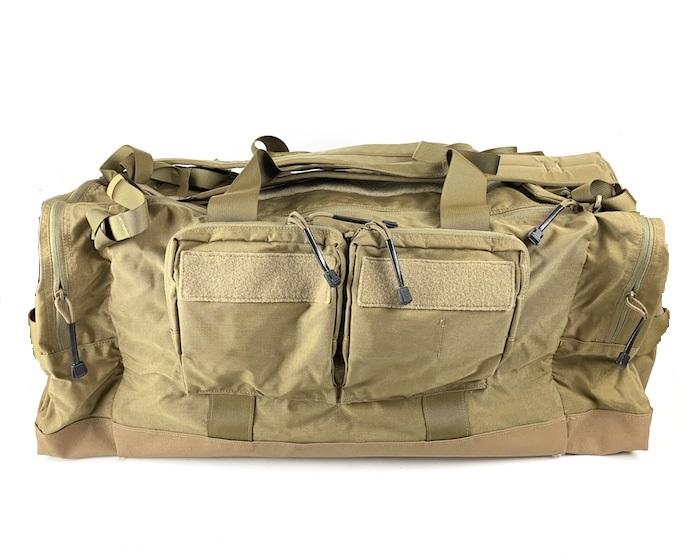 【10%OFFクーポン対象】HUSAR TRAVEL ダッフルバッグ Mサイズ Coyote Brown