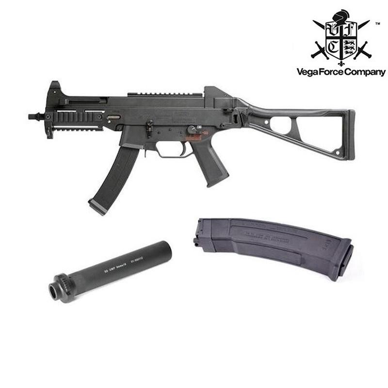 【ビッグセール 4/30まで 5%OFF】VFC Umarex UMP9 GBB [Wマガジン+サイレンサー]日本特別仕様 DX版 ガスブローバック BK サバイバルゲーム 銃 ミリタリー ライフル 銃 サブマシンガン