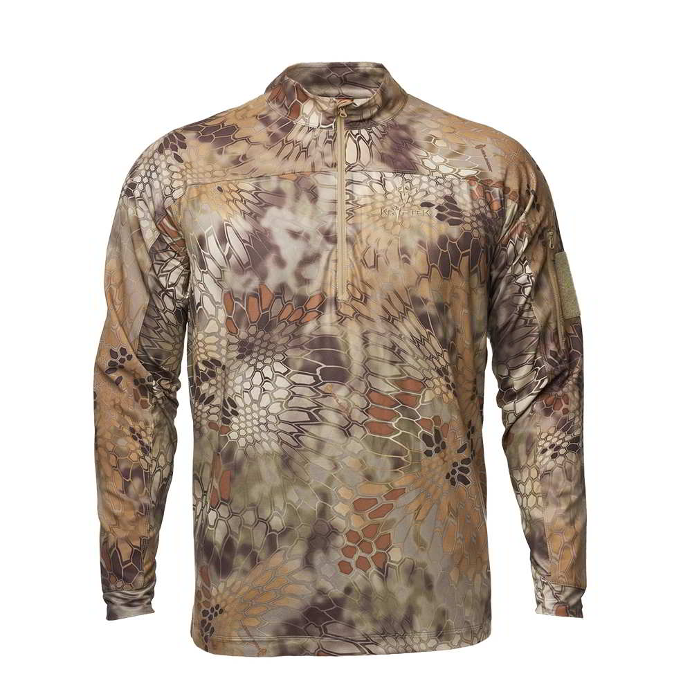 【10%OFFクーポン対象】Kryptek クリプテック オリジナル正規品 VALHALLA 2 LS ZIP 長袖 Tシャツ 18VALLSZH4 ハイランダー Highhlander Mサイズ