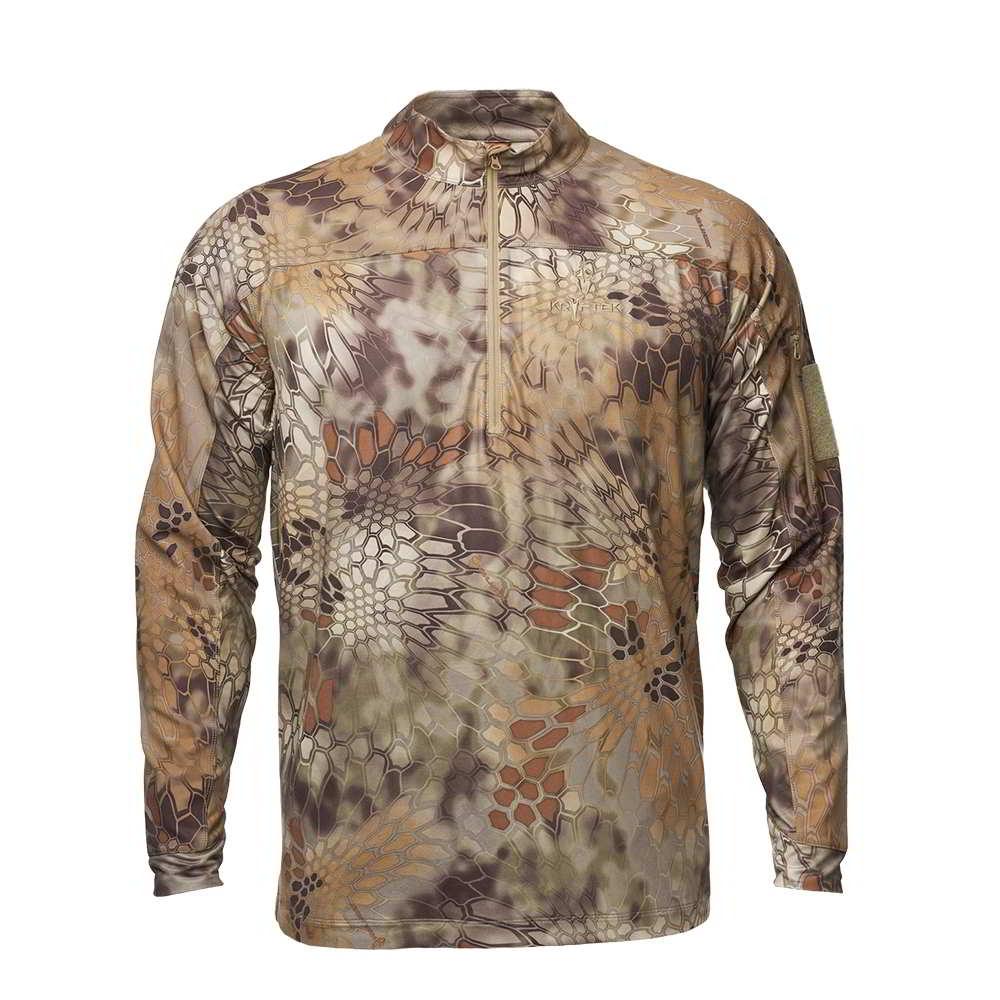 【10%OFFクーポン対象】Kryptek クリプテック オリジナル正規品 VALHALLA 2 LS ZIP 長袖 Tシャツ 18VALLSZH5 ハイランダー Highhlander Lサイズ