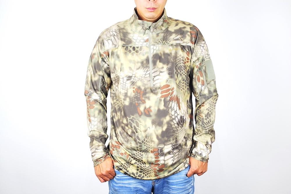 【7/25 24時間限定ポイント10倍】Kryptek クリプテック オリジナル正規品 VALHALLA 2 LS ZIP 長袖 Tシャツ 18VALLSZM6 マンドレイク Mandrake XLサイズ サバイバルゲーム 服装 Tシャツ