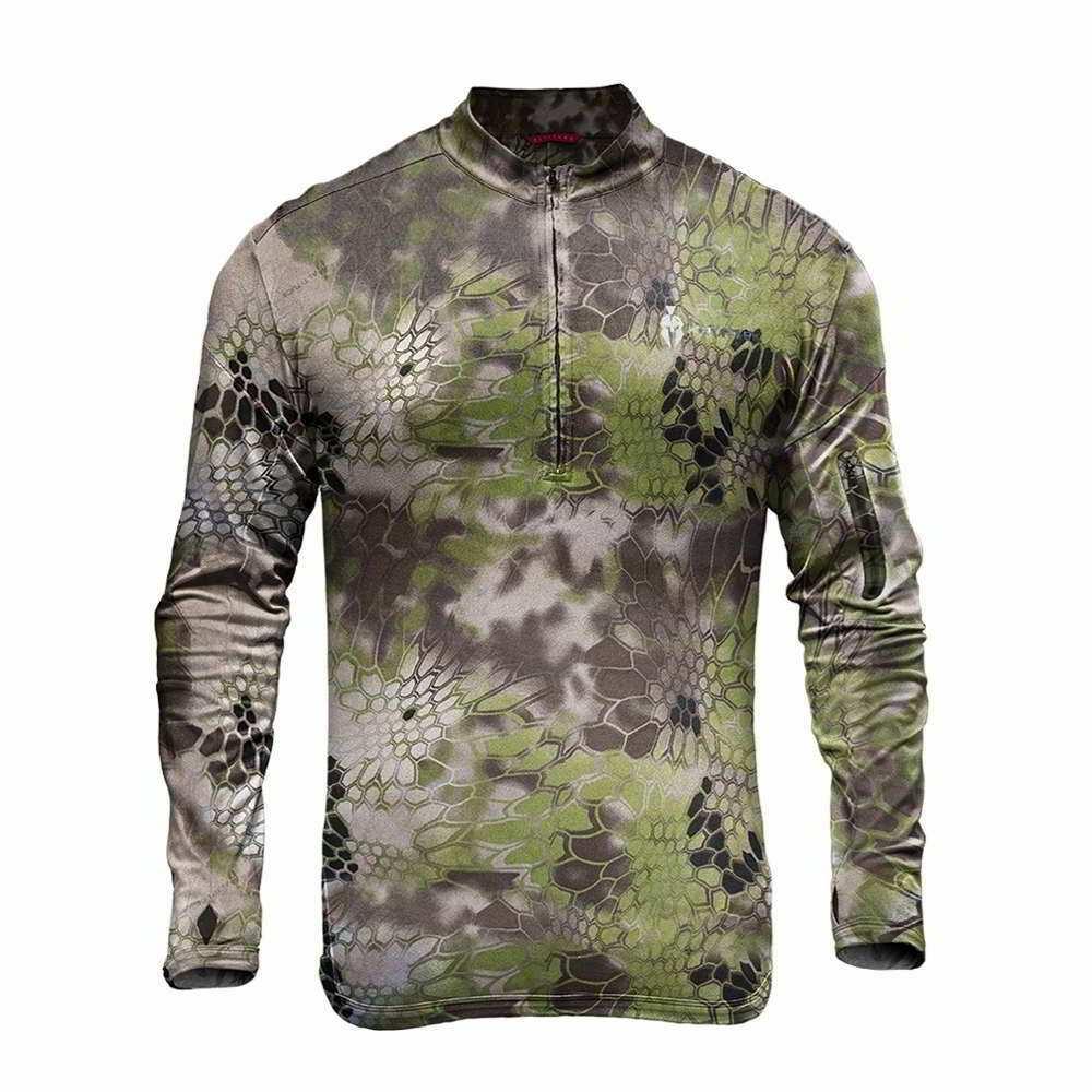 【10%OFFクーポン対象】Kryptek クリプテック オリジナル正規品 TORA 1/4 ZIP 長袖 Tシャツ 16TORZA5 アルティチュード Altitude Camo Lサイズ