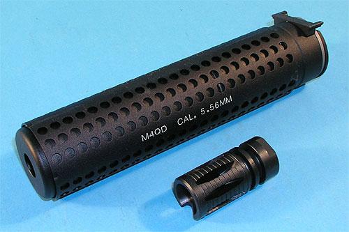 G&P M4 QD サイレンサー 逆ネジ BK GP076A サバイバルゲーム 銃 パーツ サバゲー 銃 エアガン ミリタリー