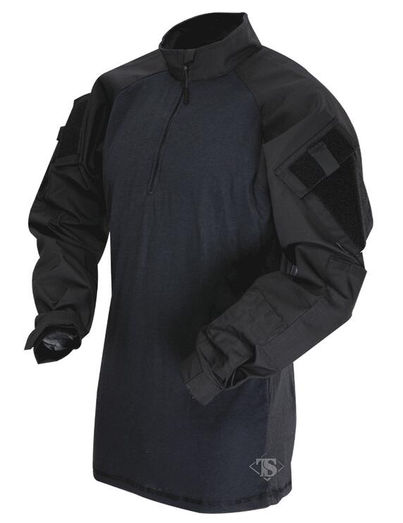 【年末セール 30%OFF 12/26 12時まで】TRU-SPEC TRU 1/4 ZIP COMBAT シャツ BK SR 2566003 サバイバルゲーム 服装 サバゲー 服装 装備 ミリタリー