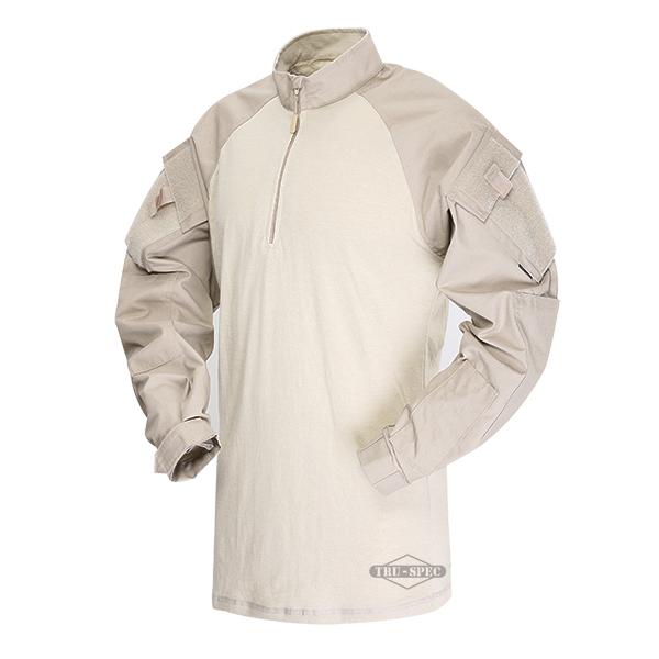 【年末セール 30%OFF 12/26 12時まで】TRU-SPEC TRU 1/4 ZIP COMBAT シャツ KH XLR 2564006 サバイバルゲーム 服装 サバゲー 服装 装備 ミリタリー