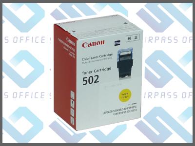 キャノン純正トナーカートリッジ502(Y)イエローLBP-5600/5600SE/5610/5900/5900SE/5910/5910F