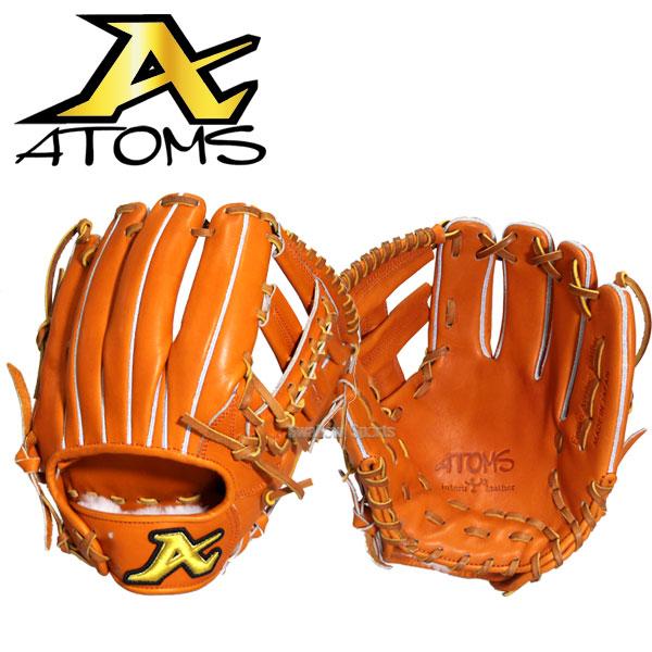 ATOMS アトムズ 硬式グローブ 内野手用 グローブ グラブ 遊撃・二塁手用 AKG-6 野球部 高校野球 入学祝い 合格祝い 春季大会 新入生 卒業祝いのプレゼントにも 野球用品 スワロースポーツ