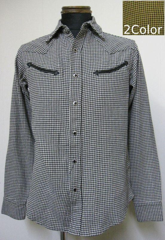 ウエストライド(WESTRIDE)16SS WR3005 ウエスタン薄手長袖ネルシャツ 【送料無料】