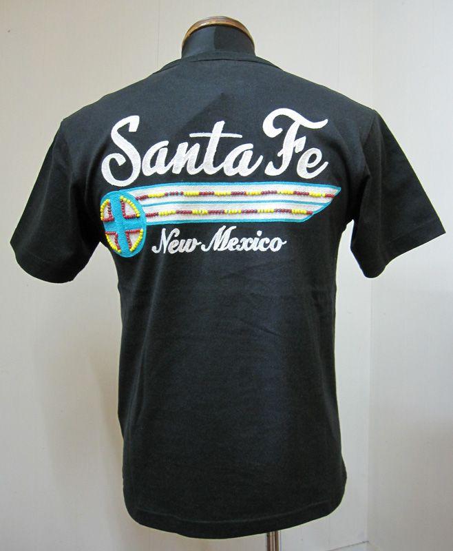 Indian(インディアン)SANTAFEビーズTシャツIM76301-BLACK