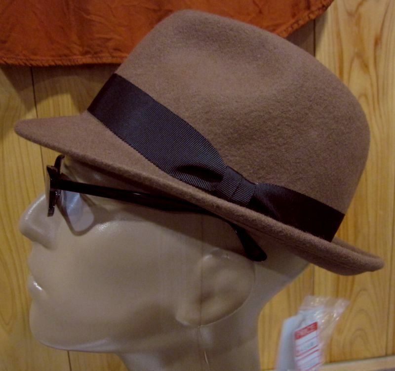 FIDELITY(フィデリティ)FELT FEDRA HAT -ブラウン