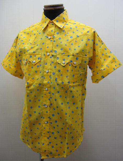 ロックマウント(Rockmount)ドット・ウエスタン半袖シャツ - Yellow【送料無料】