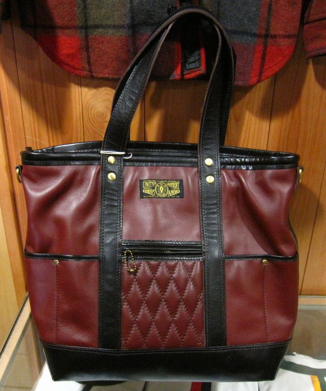 WESTRIDE(ウエストライド)PADDED TOTE BAG LEATHER -BRN/BLK【送料無料】