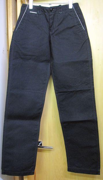 ウエストライド(WESTRIDE) 15FW CYCLE THICK WORK PANTSサイクルシック・帆布ワークパンツ -BLK【送料無料】