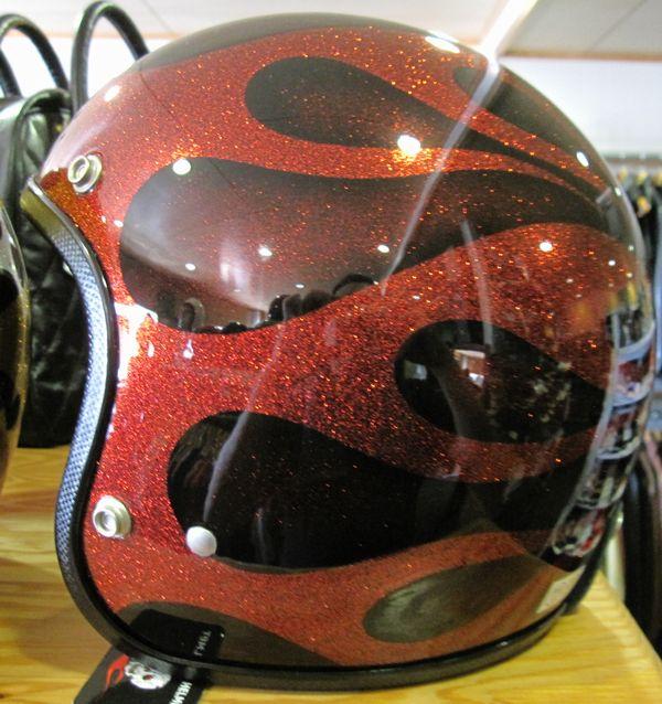 "AVENGER HELMETS アベンジャーヘルメット""FLAMES RED""SG規格(全排気量)対応【送料無料】"