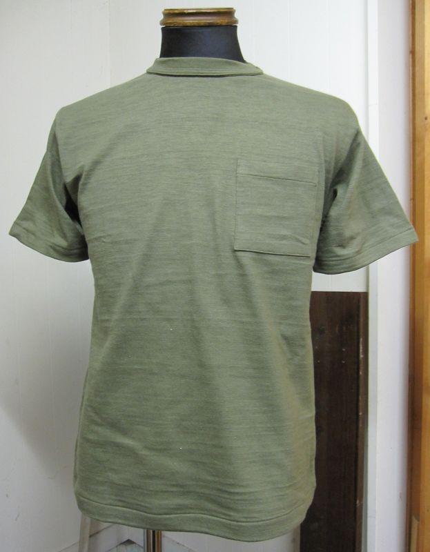 ウェアハウス(WAREHOUSE)Lot 4601 ポケット半袖TEEシャツ -ダークオリーブ