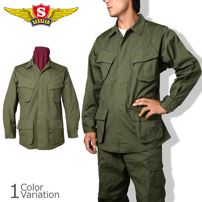 SESSLER MFG [セスラ] ジャングルファティーグジャケット (Viet Nam late type) OD