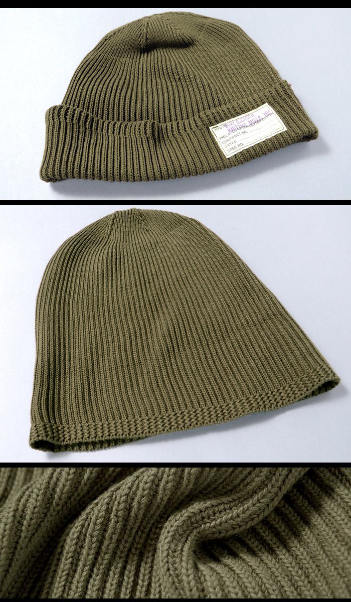 118db5cd40e Buzz Rickson s ( Rickson ) WATCH CAP COTTON Ver. Kamon Cap cotton version  BR02186