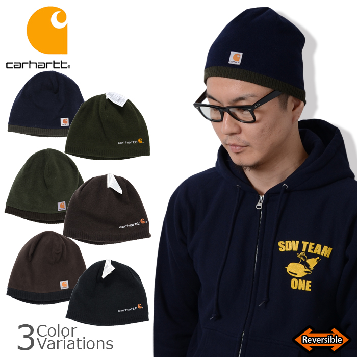 1648bb1cc93 auc-swat  Carhartt (Carhartt) Reversible Logo Panel Beanie Hat (reversible fleece  CAP)  A297