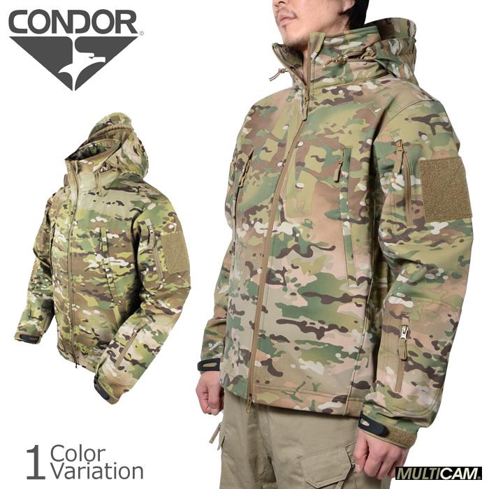 CONDOR OUTDOOR(コンドル アウトドア) SUMMIT ソフトシェルジャケット マルチカム 602-008
