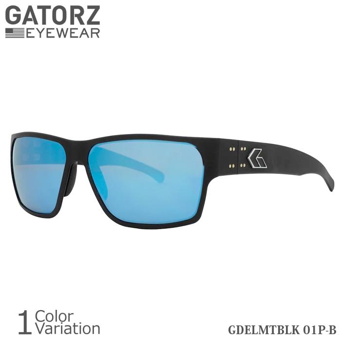 GATORZ(ゲイターズ) DELTA MatteBlack BLUE MIRROR Polarized デルタ マットブラック ブルーミラー ポラロイズド (偏光)サングラス【正規取り扱い】GDELMTBLK01P-B