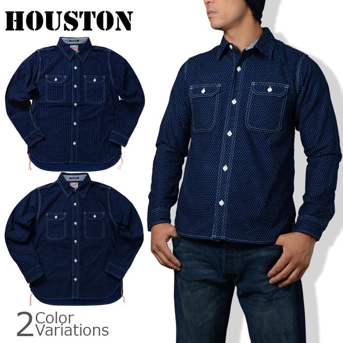 HOUSTON(ヒューストン) INDIGO WORK SHIRT/インディゴワークシャツ 40035