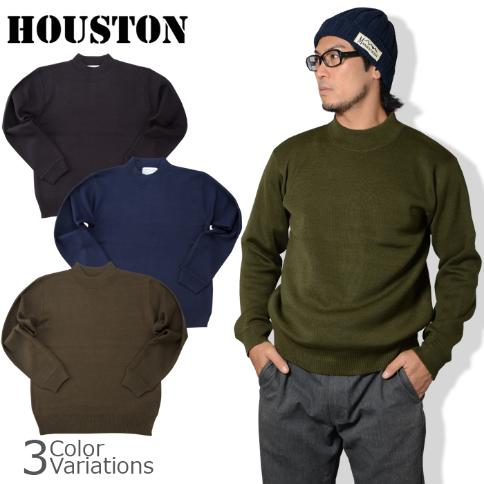 HOUSTON(ヒューストン) US NAVY HI-NECK SWEATER / US NAVY ハイネックセーター21382