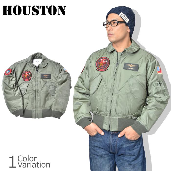 HOUSTON(ヒューストン) CWU-45P CUSTOM VX-31 TOPGUN ワッペン付き フライトジャケット トップガン 19IP001