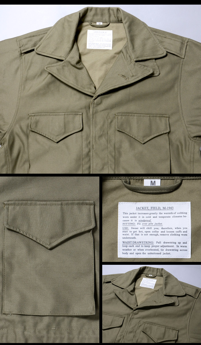 SESSLER(세스라) M-43 FIELD JACKET WWII REPLICA (M43 필드 재킷 대전 모델) A-502
