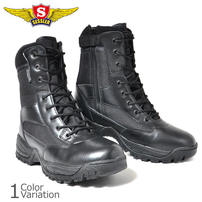 靴/ブーツ/タクティカル/サイドジップ/サバゲー/安い/ SESSLER(セスラ) COMBAT TACTICAL ZIP BOOTS コンバット タクティカル ブーツ  A-2030 - resourcelabz.com
