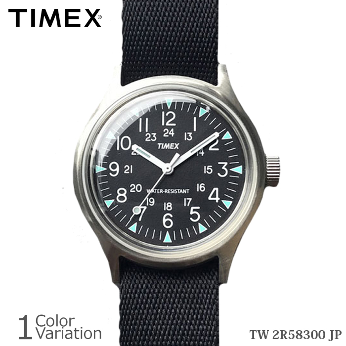 TIMEX(タイメックス) SS CAMPER キャンパー プラ (アクリル) ブラック 【正規取扱い 1年保証書付き】 TW2R58300