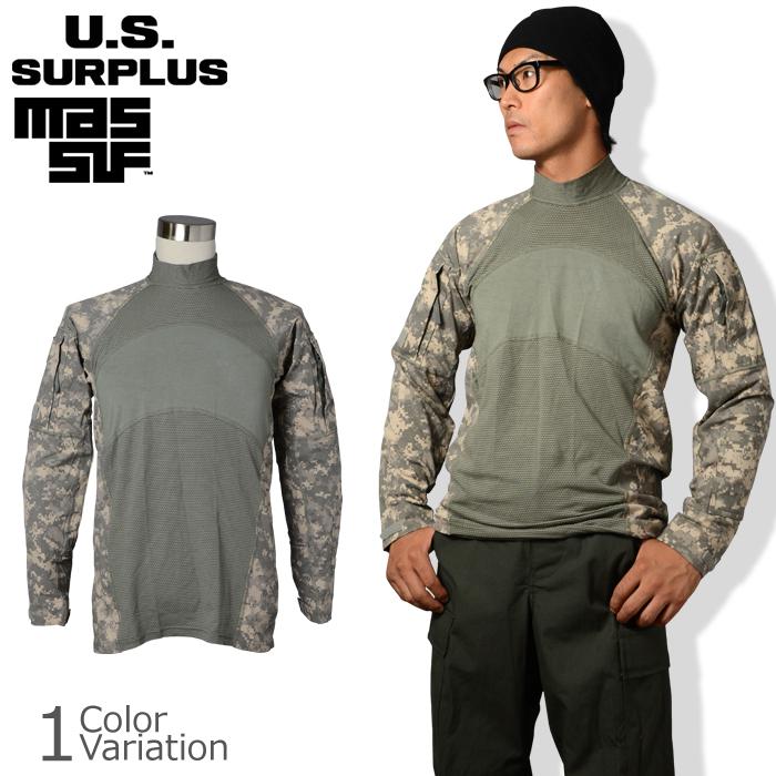 U.S SURPLUS(USサープラス) MASSIF Army Combat Shirt マッシフ アーミーコンバットシャツ 官給品 ACU/UCP