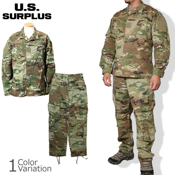 U.S SURPLUS(USサープラス) 米軍放出未使用品 Army Combat Uniform 上下セット スコーピオンW2 ACU OCP
