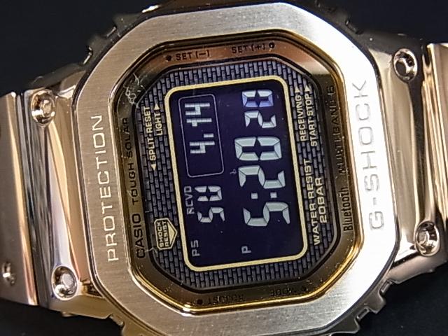 贈物 CASIO G-SHOCK Bluetooth 搭載 電波ソーラー 未使用 大人気! GMW-B5000GD-9JF 中古