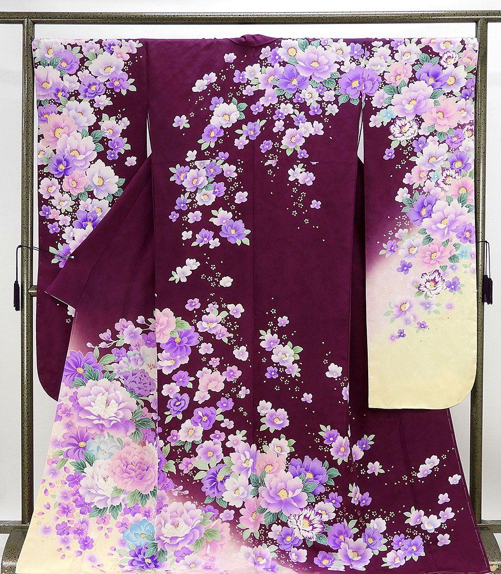 振袖 新品仕立済 正絹 牡丹桜模様 振袖 新品 仕立て上がり 着物